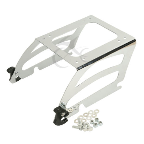 Chrome Solo Tour Pak Pack Rack For Harley Softail FLST FLSTF FLSTC FLSTN FLSTSC Softail Deluxe Fat Boy Classic Custom Night bar rear axle covers for harley davidson heritage softail classic deluxe flst slim fls flstc flstn flstsb cross bones 2008 2017