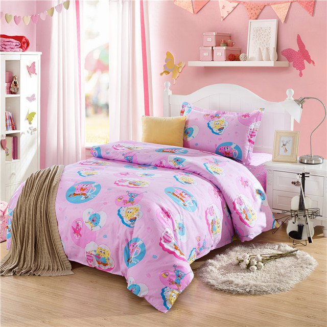 Spongebob Squarepants Comforters And Quilts Totoro Bed Linen Hello Kitty Comforter Sets Anime Sheets Pink