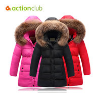 Actionclub Girls Winter Coat Children Jackets Duck Down Parkas Kids Winter Outerwear Thicken Warm Clothes Baby