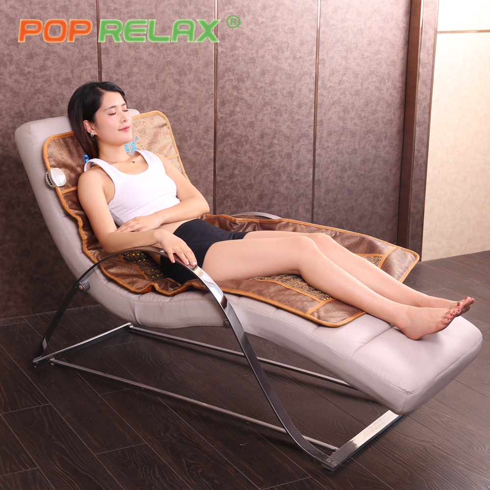 POP RELAX healthcare jade stone mattress AB sides infrared heating germanium tourmaline maifan ceramic Korea thermal therapy mat pop relax healthy mattress tourmaline jade germanium ion far infrared heating therapy stone massage mat thermal sitting mattress