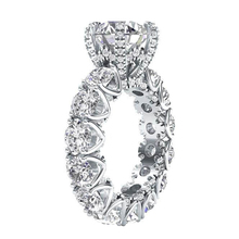 LESF Luxury Jewelry Womens 4 Carat Round Cut Premium SONA Stone 925 Sterling Silver Fashion Engagement Rings