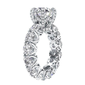 Image 1 - LESF Luxury Jewelry Womens 4 Carat Round Cut Premium SONA Stone 925 Sterling Silver Fashion Engagement Rings