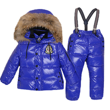 2019 -30 Degree Winter Jacket For Boys Girls Children Down Jackets Overall Kids Hooded Snowsuits Natural Fur Parka Clothing Coat grandwish winter jacket for boys girls children s down jackets overall kids hooded parka clothes set coat 18m 5t jc308