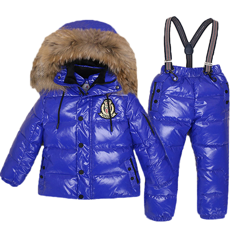 67d87edaf 30 Degree Russia Winter Boys Down Jackets Kids Clothes Children Warm ...