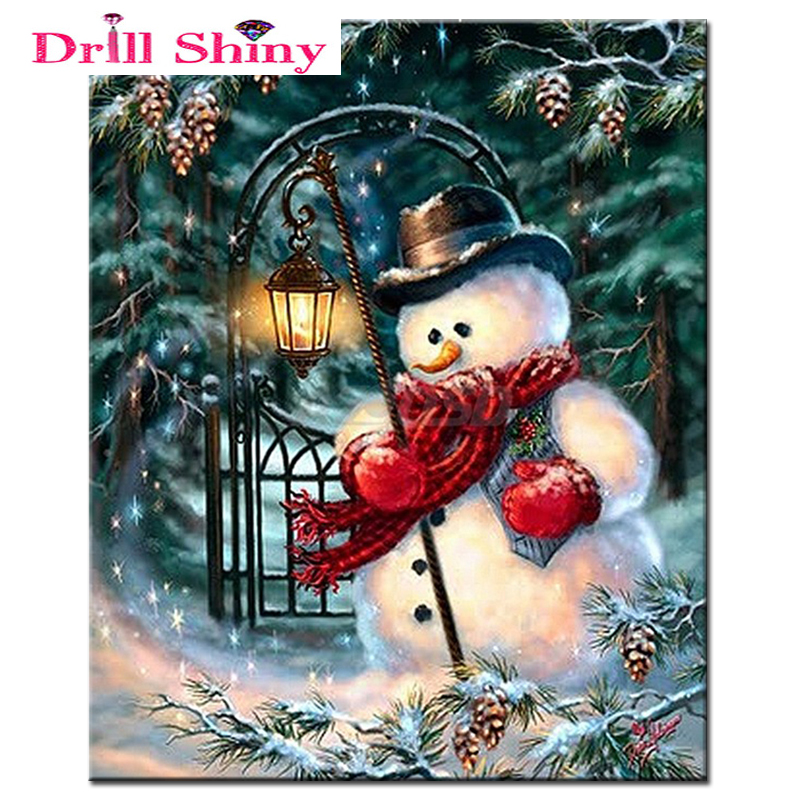 Crafts 5D Diamond Mosaic Painting Christmas Snowman full Square Diy Diamond Embroidery Rhinestone Diamond painting Cross Stitch in Diamond Painting Cross Stitch from Home Garden