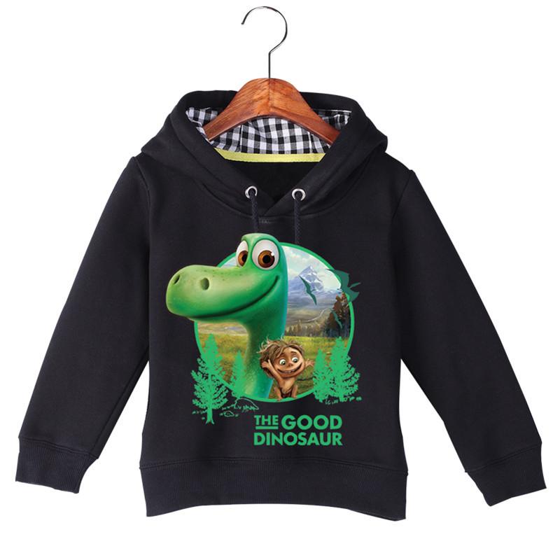 Jiuhehall High Quality Children\'s The Good Dinosaur Hoodies & Sweatshirts Autumn Winter Plus Velvet Boys Girls Hoodie GCM016 (2)