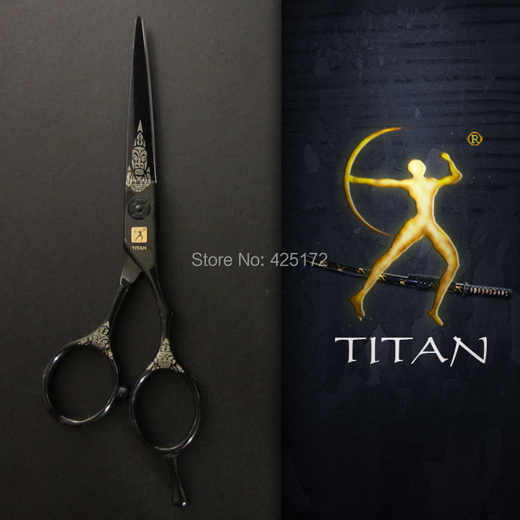 Titan hair scissors best barber scissors shears hair salon equipment china  hair dressing tool cutting scissors woll diamond titan best 1724tb