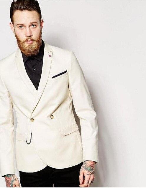 eb8b74f937cb Doble Para Pantalones Formal Corte Los Breasted Últimos Diseños Slim ...