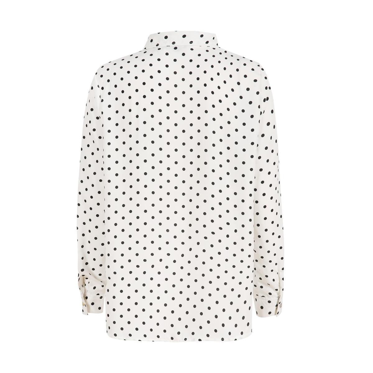 MCO New Basic Polka Dot Print Plus Size Women Blouse Casual Oversized Top Big Women Clothing Simple Spot Loose Shirt 5xl 6xl 7xl 1