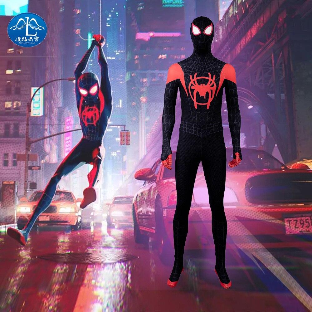MANLUYUNXIAO Spider Man  Into The Verse Spiderman Costume Halloween Dinosaur Kids