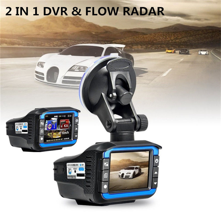 2 in 1 Car DVR Video Dash Cam 2 inch 720P HD Car Camera Radar Speed Detector Night Vision Support 32G TF Audio Video Recording bigbigroad for nissan qashqai car wifi dvr driving video recorder novatek 96655 car black box g sensor dash cam night vision