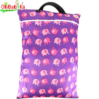Baby Bags For Mom Waterproof Wet Dry Bag Reusable Cloth Diaper Nappy Bag With Two Zippered