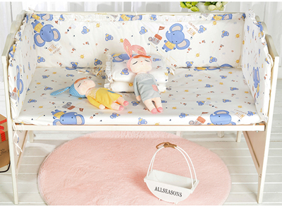 7PCS Baby Bed Bumpers Bed Around Neonatal Cot Baby Bedding baby duvet,(4bumper+sheet+pillow+duvet)