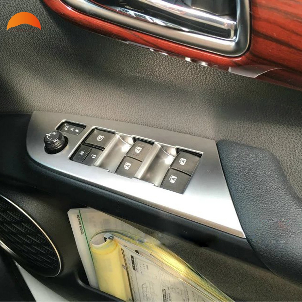 For Toyota Prius 2016 2017 Interior ABS Matte Side Door Armrest Cover Window Switch Control Cover Trim Right Hand Driver 4pcs citall 4pcs car interior abs matte chrome door window switch console panel cover trim for toyota highlander 2014 2015 2016 2017