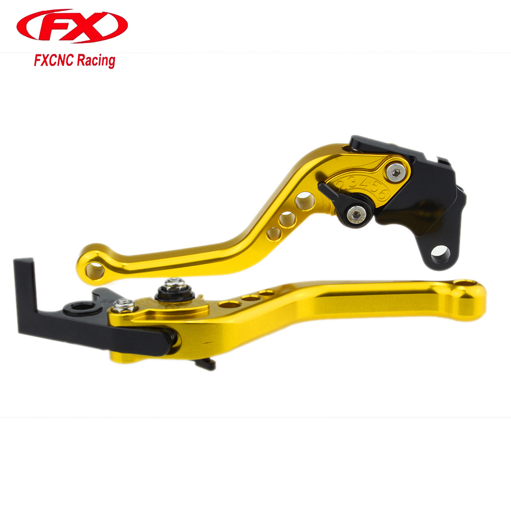 FXCNC Adjustable Motorcycles Brake Clutch Levers For APRILIA RS125 RS 125 2006 2007 2008 2009 2010 Motorcycle Brake Lever cnc adjustable long folding brake clutch lever for aprilia rsv4 factory rsv4r 2009 2010 2011