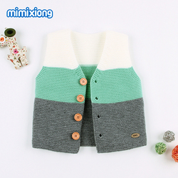 Baby Girl Spring Waistcoats Clothes Autumn Outerwear Newborn Sweaters Vests Cardigans Fashion Infant Knitting Jackets Kids Coats