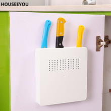 Versteckte Wand Werkzeughalter Messerblock Kunststoff Lagerregal Regal Küche Zubehör Lagerung Werkzeuge Messer Stehen für Messer