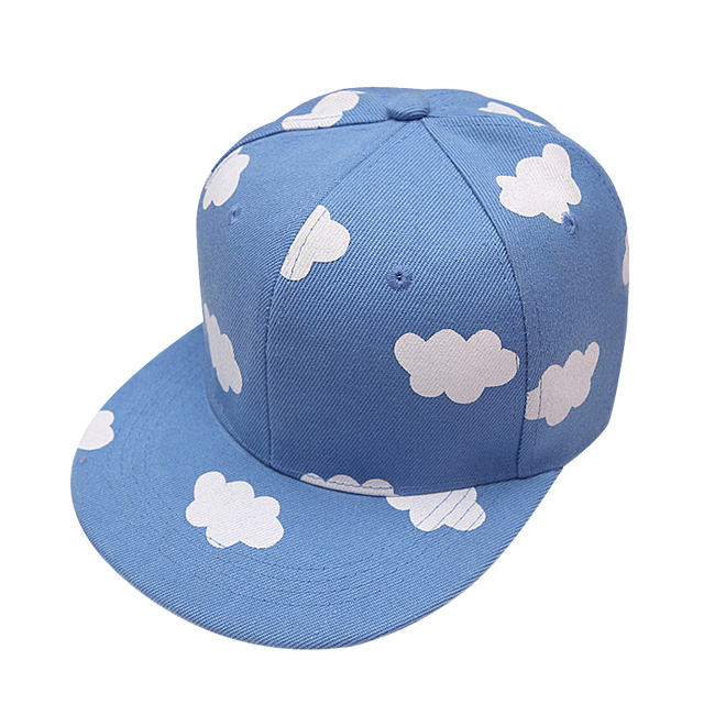 aee866e3f96 Spring Ladies hip hop Baseball Caps Pink and Blue Clouds Print Canvas Snapback  Hats Summer Fresh