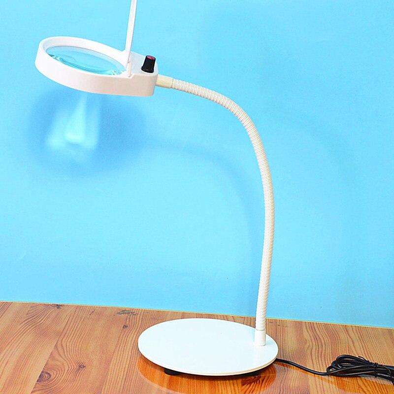 Белая HD Лупа со светодиодной подсветкой Регулируемая яркость простой европейский стиль настольная лампа для учебы многофункциональное ув...