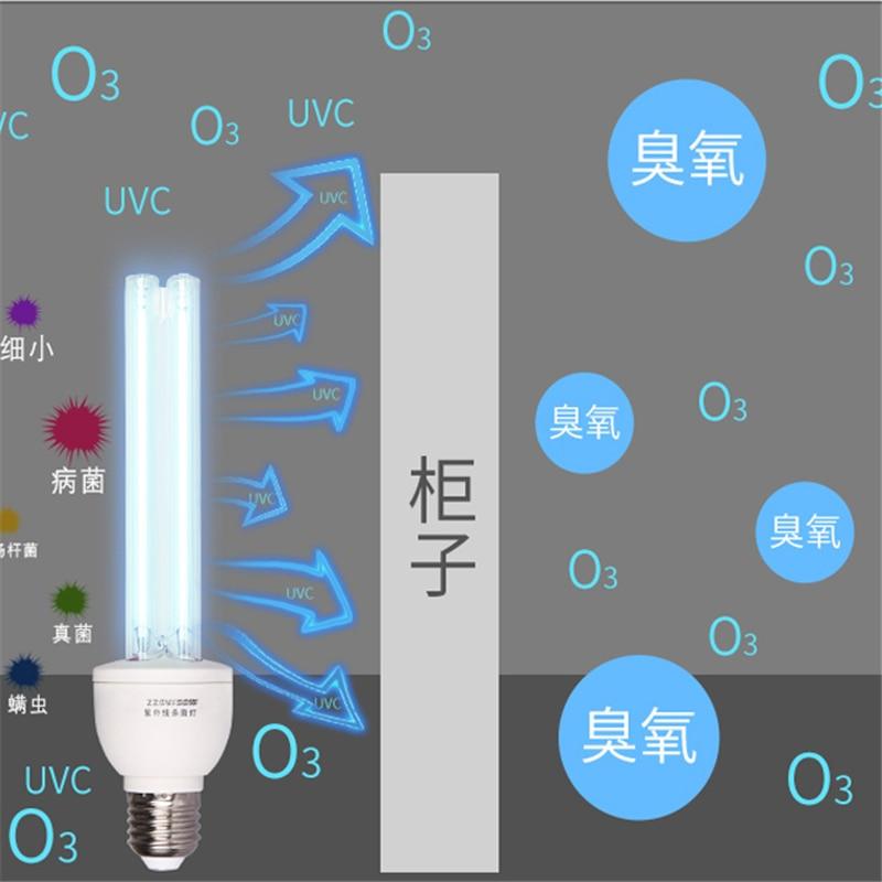30 W UV E27 desinfección lámpara de cuarzo luz ultravioleta portátil ácaros ozono germicida ultravioleta esterilizador tubo lámpara bactericida