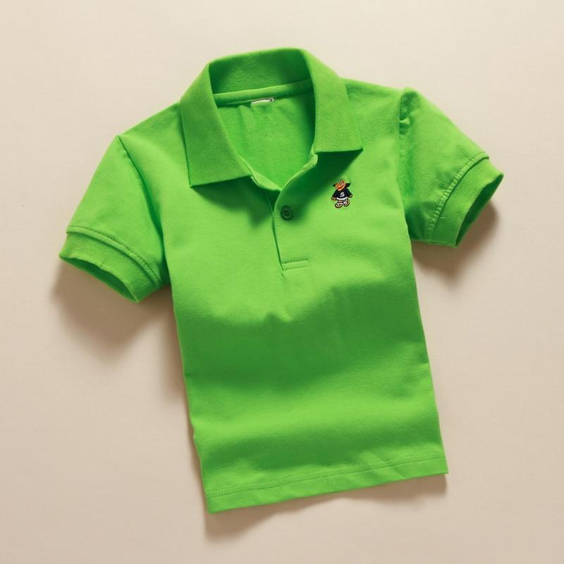 VEITCHE 2017 sommer marke kinder shirts kurzarm drehen unten kragen - Kinderkleidung - Foto 3