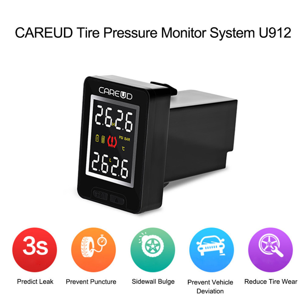 все цены на CAREUD U912 Auto TPMS for Honda Car Tire Pressure Wireless Monitoring System LCD Display Embedded Monitor and 4 Sensors