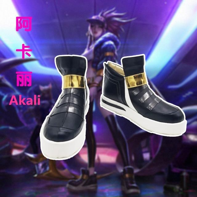 Anime! LOL KDA Ahri Akali Kaisa Evelynn Cosplay Shoes K/DA Boots For Women 2018 Hot Game Custom-made Size Free Shipping 2