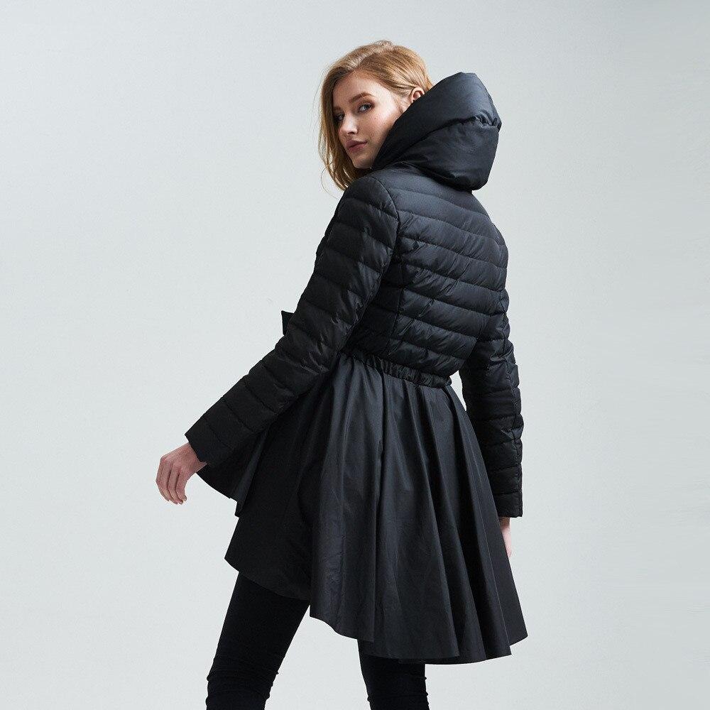 AYUNSUE 90% White Duck Down Winter Jacket Women Skirt Design ...