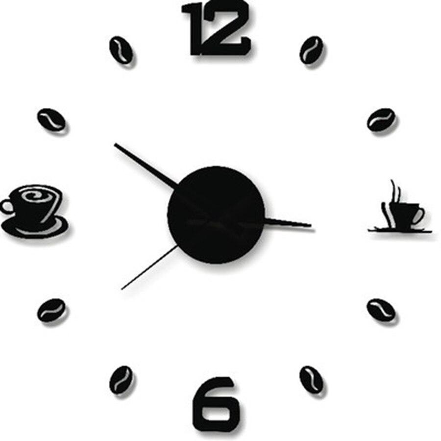 Décoration 3 d Stickers muraux décor à la maison salon Design moderne européen créatif horloge murale salon Wanduhr horloge 50w114