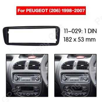 1 DIN Radio coche Fascia instalación Dash bisel ajuste Kit montaje marco tablero para Peugeot (206) 1998-2007 Marco de Audio