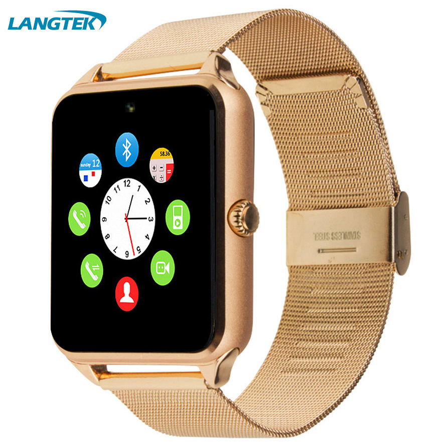 Smart Watch GT08 Sync Notification With TF SIM Card Slots for Android iPhone Bluetooth Connectivity Alloy