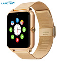 Smart Watch GT08 Sync Notification With TF SIM Card Slots for Android iPhone Bluetooth Connectivity Alloy Strap Smartwatch
