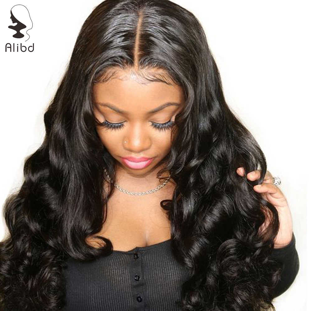 Alibd 360 Lace Frontal Wigs Brazilian Human Hair Wig Body Wave Pre Plucked Remy Hair Lace Front Wigs With Baby Hair For Woman