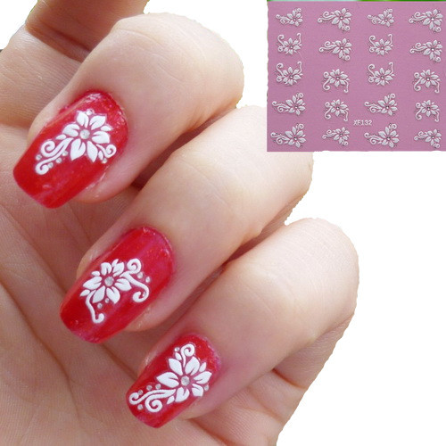 The Nail Art And Beauty Diaries: 2 Sheet XF 3D Nail Stickers Nail Cosmetics Essential