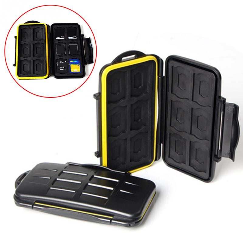 12 SD card + 12 TF card Waterproof Memory Card Case for SD/TF Card Case Holder Box for Outdoor Camera shooting Easy Carry card for par5018a