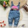 BibiCol Alta Qualidade Primavera macacão de bebê Animais da Menina do Menino Macacão roupas de bebe Macacão Jeans infantil traje Do Bebê roupas