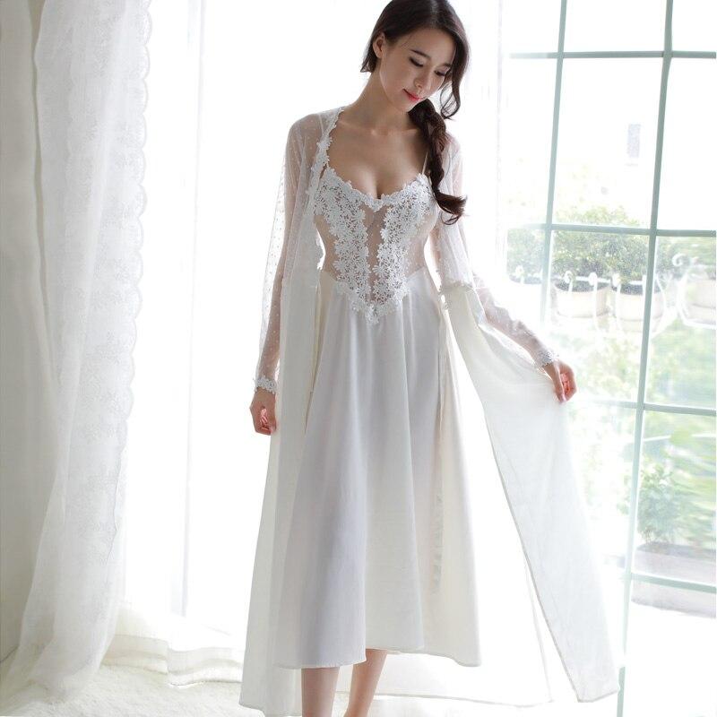 Summer Nightwear Lace Women   Sleepshirts   V-Neck Sexy Lingerie Satin Nightdress Backless   Nightgowns   Sleepwear Silk Lingerie