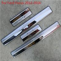 Apto Para 2005-2016 Ford Focus 2 Focus 3 Mk3 S'steel Porta Placa do Peitoril da porta Scuff Pontapé Tampa Passo Protetor Guarnição moldagem
