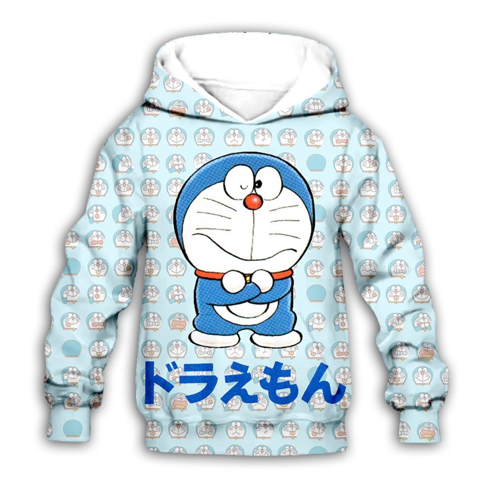 kawaii Doraemon collage hoodies Nobita Nobi 3D print Kids Cartoon anime sweatshirt boy girl Children casual cute zipper pullover in Matching Family Outfits from Mother Kids