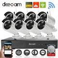 Deecam kit nvr cctv sem fio wifi ip câmera de vigilância de vídeo hd 960 P 8CH KIT CCTV Sistema de Câmera De Segurança WI-FI Ao Ar Livre 1 T HDD