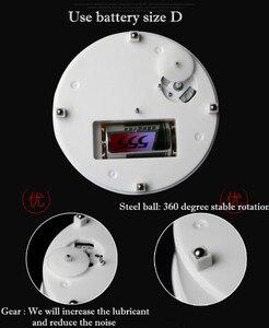 Image 5 - 20cm élégant noir velours haut électrique motorisé rotatif affichage plateau tournant charge Max 1.5kg pour bijoux Modeldisplay stand