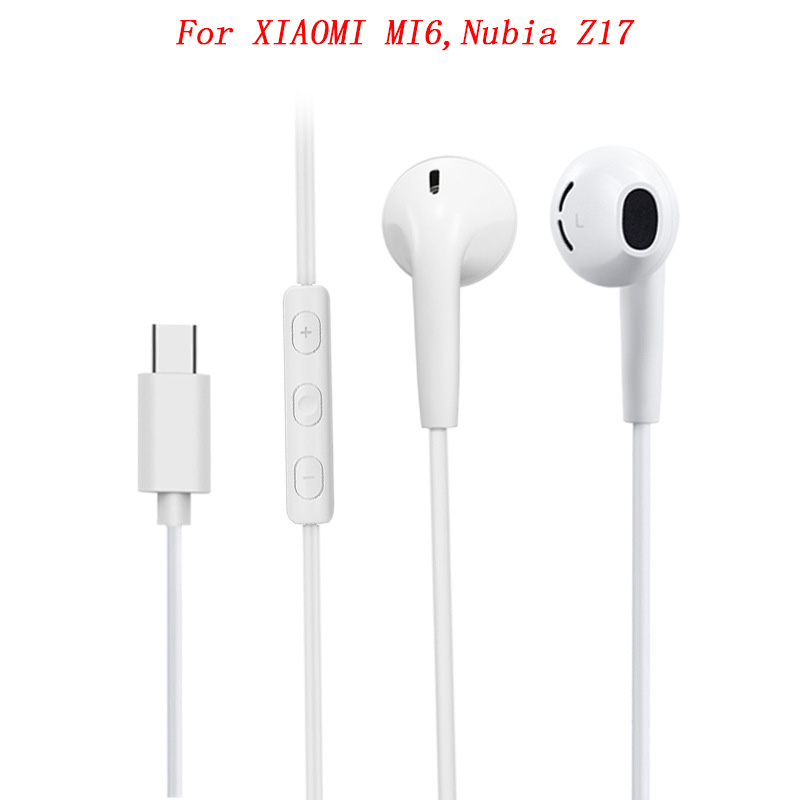 Usb 3.1 Type C Earphone Mic/remote Volume Control Digital Hifi Deep Bass In-ear Earbuds For Mi 6 6x 8 Se Mix 2 2s Note 3 Great Varieties Phone Earphones & Headphones