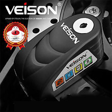 VEISON Anti-Theft Motorcycle Disc Brake Lock Alarm Padlock Bicycle Warning Safety Scooter 120dB Waterproof