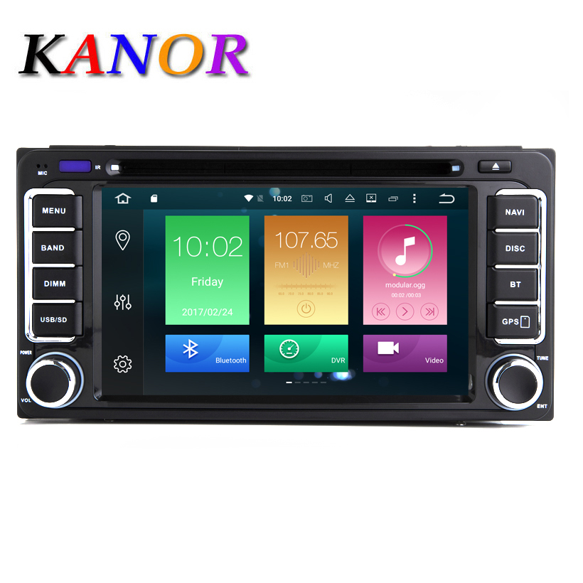 KANOR Octa Core RAM 2G ROM 32G 2 Din Android 6 0 Car Audio Stereo Radio
