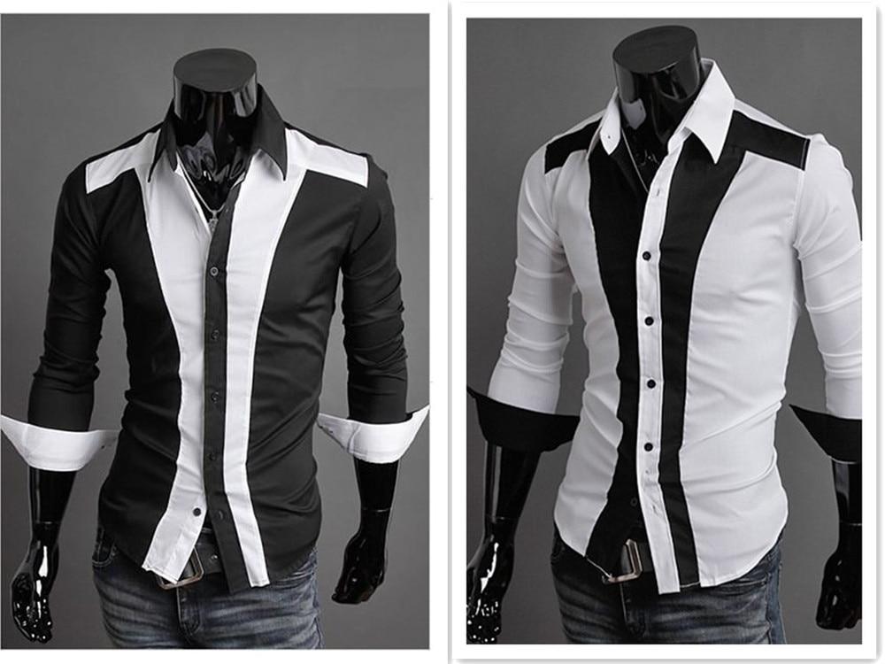 Vintage uk style fancy design new mens luxury formal for Mens slim fit formal shirts uk