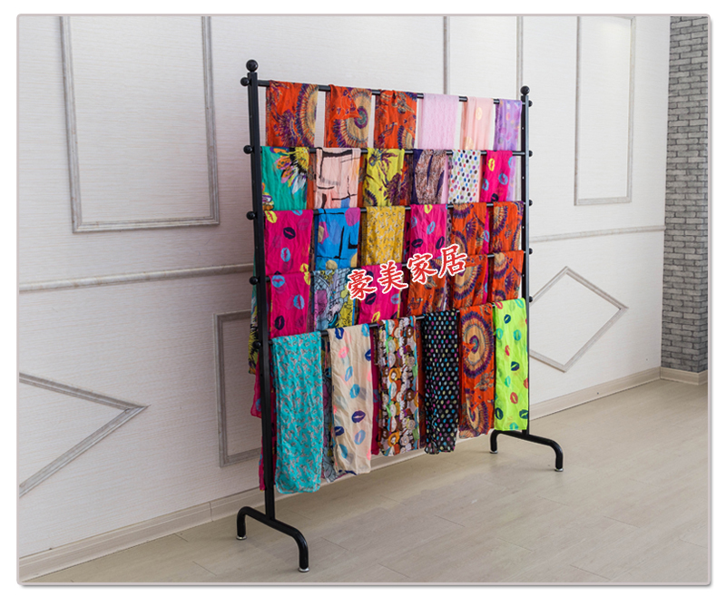 wrought iron clothes rack silk scarves Scarf