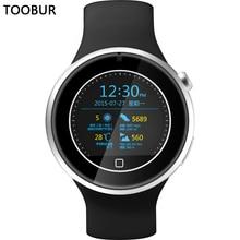 Toobur Smart Uhr TB05, Bluetooth Telefon/Zwei-wege Anti-verlorene/Herzfrequenz/Wetter/Push-nachricht/Wasserdichte Volle Android & IOS Smartwatch