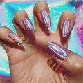 1 g/caja Polvo Brillante de Plata Holográfica Láser Espejo Mágico Polvo de Uñas Glitters Nail Art Lentejuelas Cromo Pigmento Polvo de Esmalte de Uñas