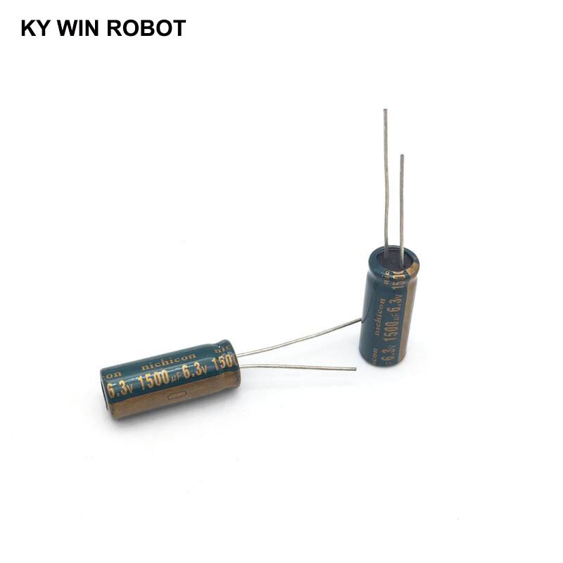 25 pc 1500uf  6.3v  electrolytic capacitors