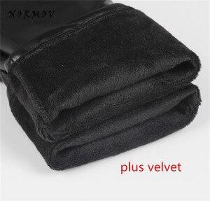 Image 5 - CHRLEISURE 5XL Plus Size Velvet Leather Legging Warm Winter Women Faux Leather Leggin Long high Waist  Slim Legging Women